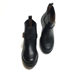 Vionic Mystic Mara 7.5 38.5 Ankle Moto Boots Black